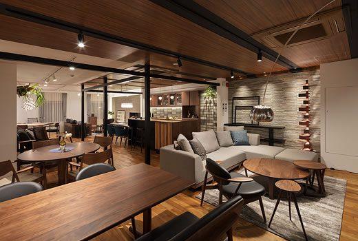 上質でラグジュアリーな設え、プレミアム感に満たされたショールーム3階。