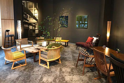 『コントラクトブース』通常商品とは異なる特注のテーブルや特別仕様の家具がご覧頂けます。